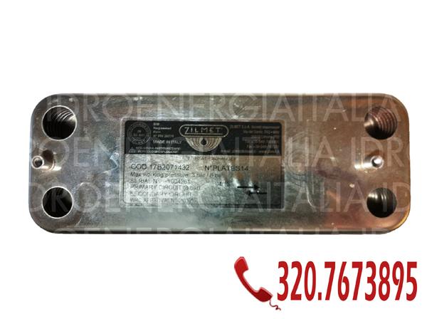 zilmet 17B2071432 scambiatore 14 piastre zilmet per caldaie junkers bosch - axelia leblanc roma